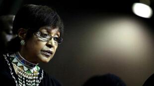 Winnie Madikizela-Mandela, l'ancienne épouse de Nelson Mandela, en mars2010.