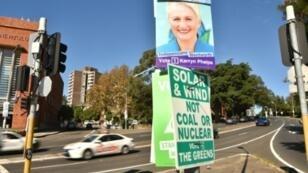 يافطات للانتخابات التشريعية الأسترالية في سيدني في 14 مايو/أيار 2019