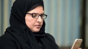 الناشطة الحقوقية السعودية عزيزة اليوسف خلال مقابلة أجريت معها في الرياض في 27 أيلول/سبتمبر 2019 وهي بين الناشطات العشر اللواتي تجري محاكمتهن