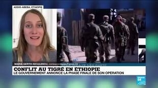 """2020-11-18 13:01 Conflit au Tigré en Éthiopie : """"la fin de la guerre est proche"""" selon le gouvernement d'Abiy Ahmed"""