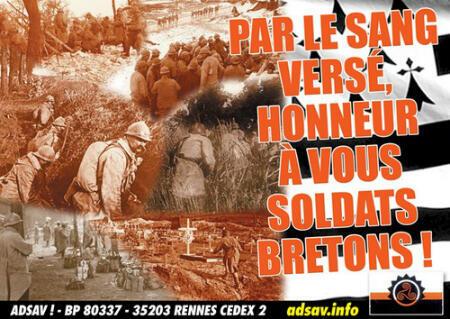 Affiche publiée en 2010 par Adsav le parti du peuple breton (PPB), un parti indépendantiste breton