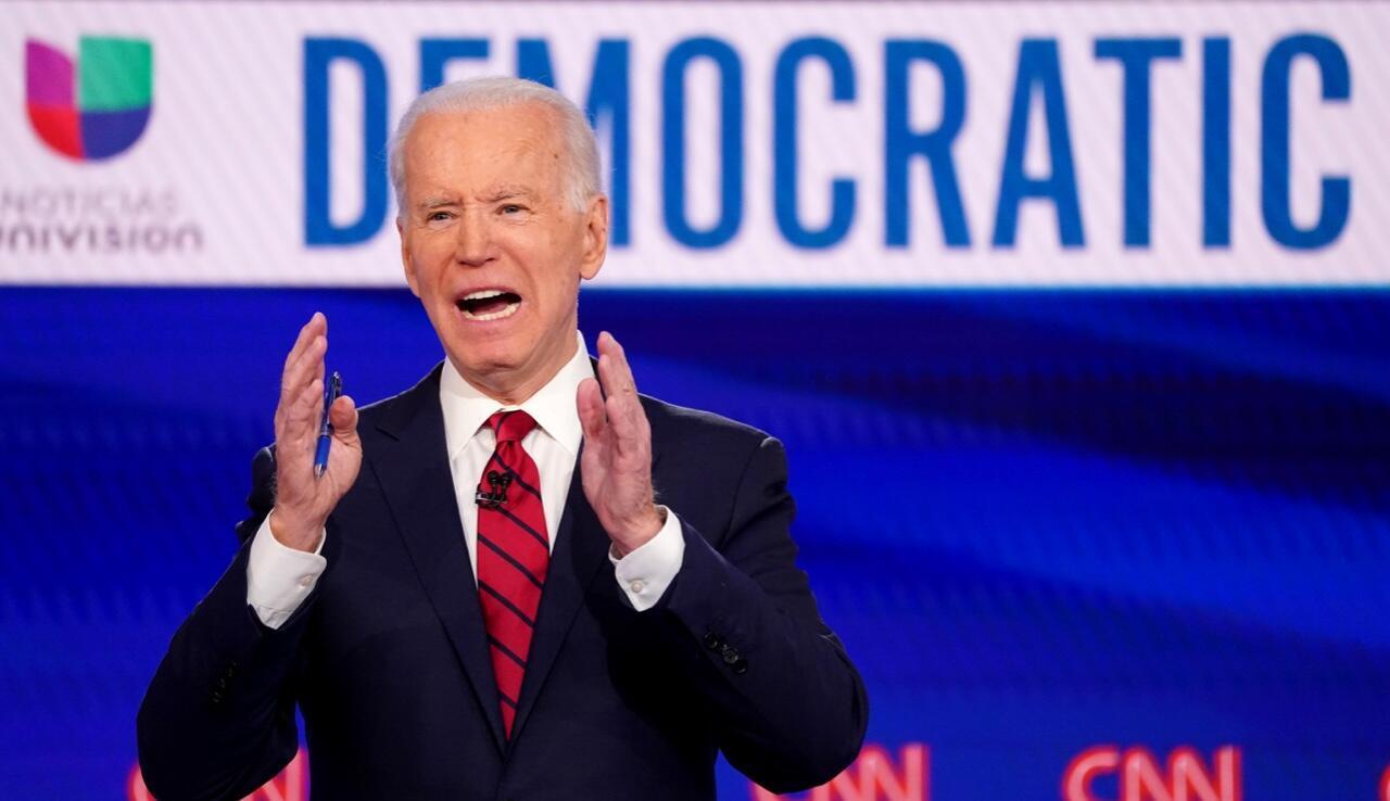 L'ancien vice-président américain Joe Biden lors du débat démocrate le 15 mars 2020, à Washington.