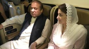 اعتقل رئيس الوزراء الباكستاني السابق نواز شريف وابنته مريم فور وصولهما إلى باكستان في 13 يوليو/تموز 2018