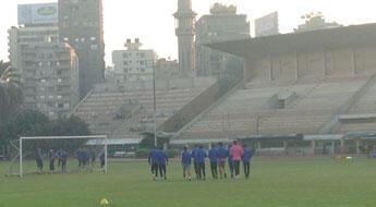 Le Club Zamalek à l'entraînement, au Caire. (©P.Leurent/FRANCE 24)
