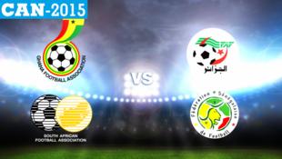 المجموعة الثالثة تضم منتخبات الجزائر والسنغال وغانا وجنوب أفريقيا.