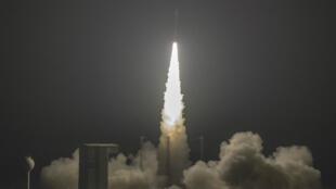 Le satellite marocain Mohammed-VI-A a été lancée depuis la base française de Kourou, en Guyane, le 7 novembre 2017.