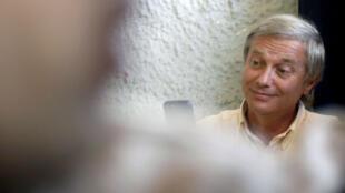 Imagen del ex candidato presidencial de Chile, José Antonio Kast, luego de ser insultado por votantes durante la segunda vuelta de las presidenciales en Santiago de Chile, el 17 de diciembre de 2017.