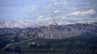 La ville stratégique de Jisr al-Choughour, photographiée en févier 2013 (archives).