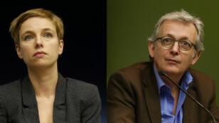 La députée LFI Clémentine Autain et le secrétaire général du PCF et sénateur Pierre Laurent.