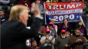 Des partisans de Donald Trump lors d'un meeting à Green Bay, dans le Wisconsin, le 27 avril 2019.