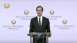 Le conseiller spécial de la Maison Blanche Jared Kushner à la conférence économique de Manama, à Bahreïn, le 25 juin.