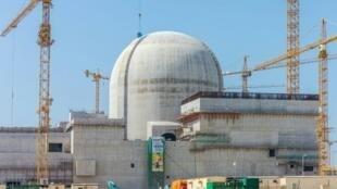 صورة وزعتها مؤسسة الإمارات للطاقة النووية في 1 حزيران/يونيو 2017 لقسم من موقع براكة للطاقة النووية.