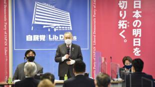 Yoshiro Mori, presidente del Comité de organización, durante una reunión entre el comité de Tokio-2020 y los responsables del Partido liberal-demócrata, en Tokio, Japón, el 2 de febrero de 2021