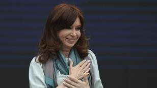 L'ancienne présidente de l'Argentine et sénatrice Cristina Kirchner à Buenos Aires, le 19novembre2018.