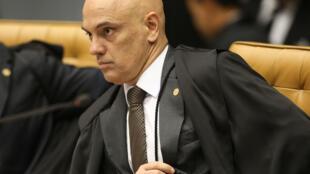 El juez de la corte suprema de Brasil Alexandre de Moraes, en una sesión de la corte del 4 de abril de 2018 en Brasilia