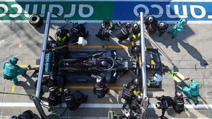 'My mistake': Lewis Hamilton stops in the pits