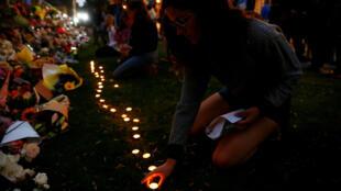 Homenaje a vícitmas que dejó el atentado en la ciudad neozelandesa de Christchurch. 16 de marzo de 2019.