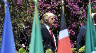 الرئيس الأمريكي دونالد ترامب خلال قمة الدول السبع الكبرى في إيطاليا