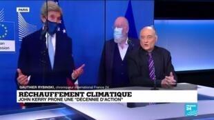 """2021-03-10 13:07 Réchauffement climatique : """"une décennie d'action"""" prônée par John Kerry face au changement climatique"""