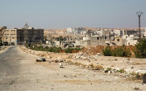 آثار المعارك في حي الكلاسة في حلب في 20 تشرين الأول/أكتوبر 2016