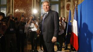 Le ministre de la Justice, François Bayrou, après sa conférence de présentation du projet de loi sur la moralisation de la vie publique, le 1er juin 2017.