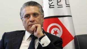 Nabil Karoui, magnat des médias tunisien et candidat à la présidentielle, le 2 août 2019.
