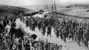 Des soldats français au début de la Première Guerre mondiale, en 1914
