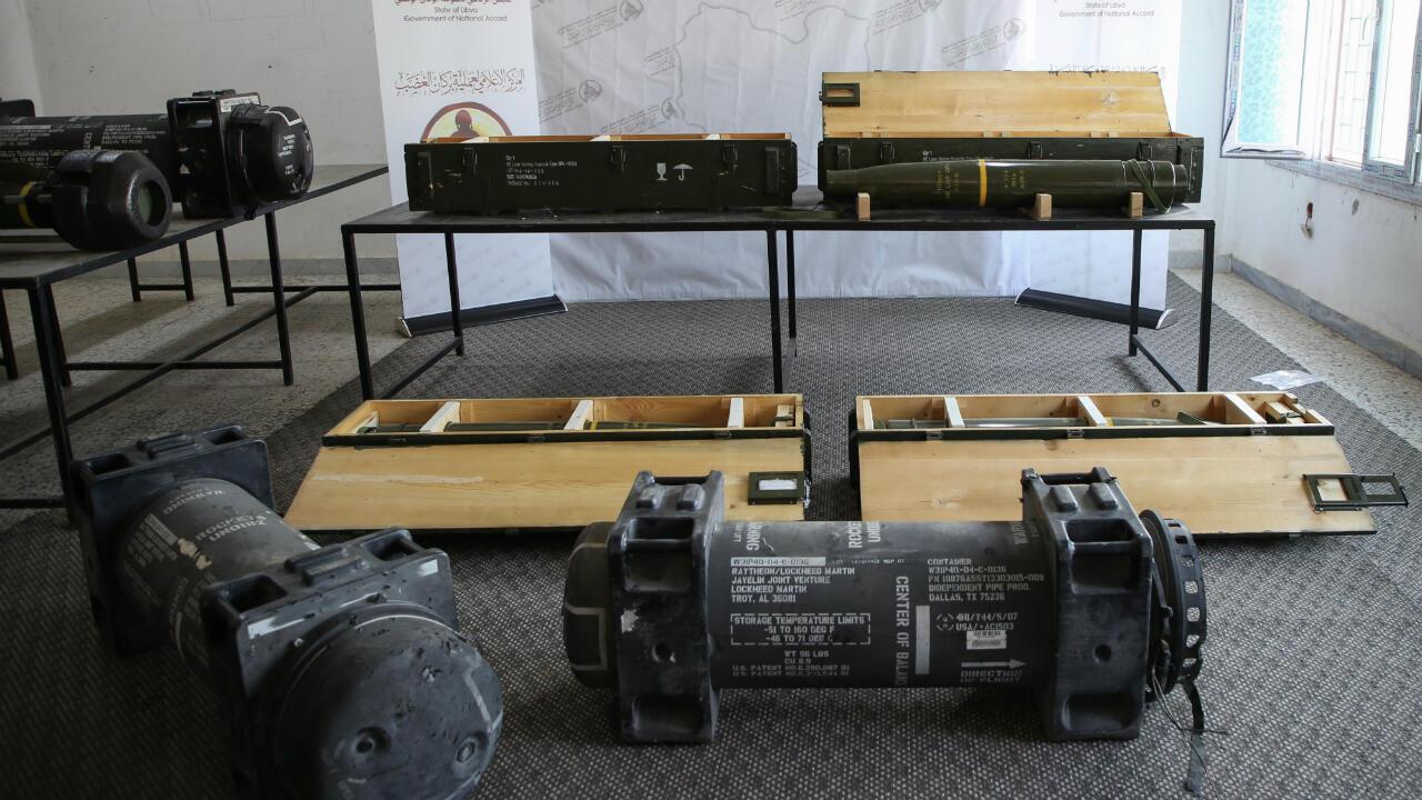 Fuerzas gubernamentales libias exponen los misiles javalina confiscados a los grupos rebeldes de Khalifa Haftar el pasado 29 de junio d 2019