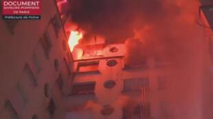 حريق في مبنى سكني، الدائرة 16 بباريس 05 فبراير/شباط 2019