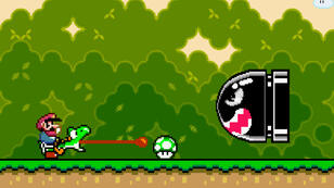 Hop, un champignon vert qui encourage la curiosité de l'IA.