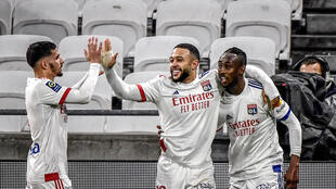 Les Lyonnais se sont montrés supérieurs à Nantes, battu 3-0 à Décines, avec notamment un but de Tino Kadewere (à droite), le 23 décembre 2020