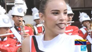 Una niña venezolana lleva pintada su cara en el marco del carnaval de Venezuela, donde Maduro decretó el 28 de febrero y el 1° de marzo como feriados, en Venezuela, en marzo de 2019.