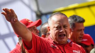 Archivo-El presidente de la Asamblea Constituyente venezolana Diosdado Cabello, participa de un acto en Caracas, el 27 de febrero de 2020