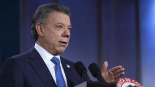 الرئيس الكولومبي خوان مانويل سانتوس، نوبل السلام 2016.