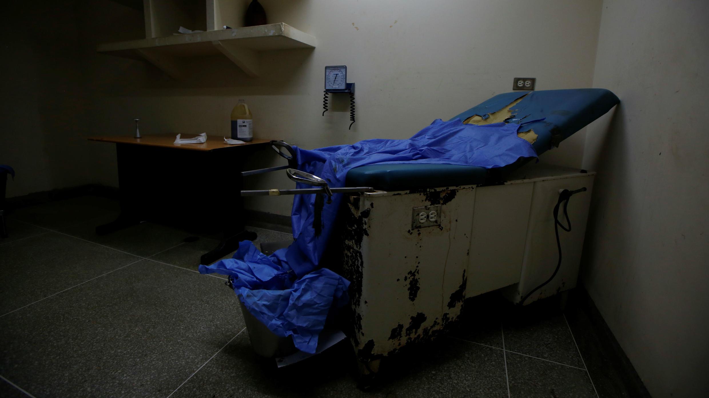 Imagen de una sala de maternidad en el Hospital Felipe Guevara Rojas en El Tigre, Venezuela, el 3 de junio de 2019.