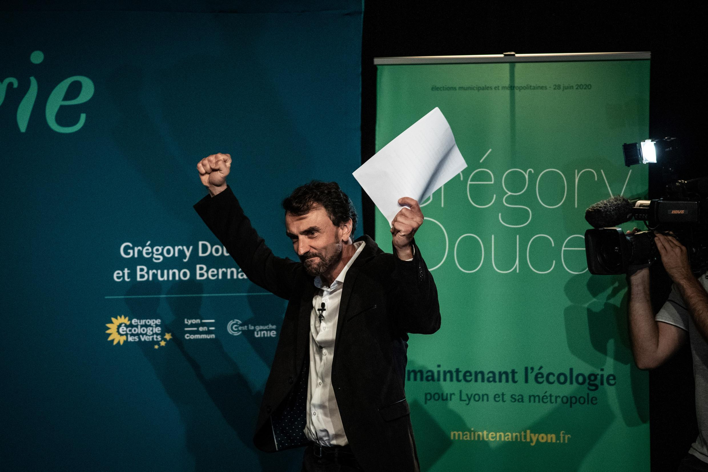 The ecologist Grégory Doucet won the town hall of Lyon in the second round of municipal elections, on June 28, 2020.