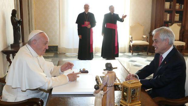 Sebastián Piñera se reúne con el papa Francisco