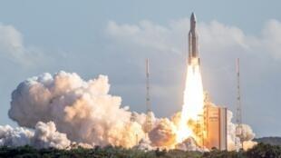 Lancement par Ariane 5 de quatre satellites Galileo, à Kourou le 25 juillet 2018