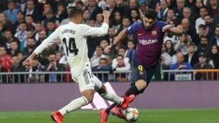 لويس سواريز سجل هدفين لبرشلونة خلال الفوز 3-صفر على ريال مدريد في إياب نصف نهائي الكأس 27 فبراير/شباط 2019