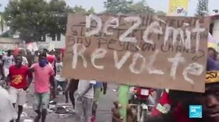 2019-11-21 08:10 Protesters demand resignation of Haiti's president