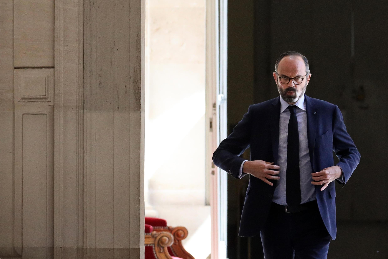 Le Premier ministre Édouard Philippe à l'Assemblée nationale, le 14 avril 2020 à Paris.