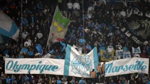 Les supporters de l'Olympique de Marseille, au stade Vélodrome.