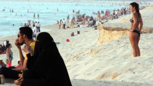 Une plage de Dubaï, en mai 2012