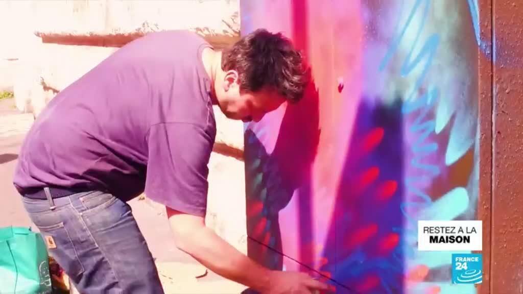 2020-04-20 17:11 Covid-19 : France 24 à la rencontre du street-artiste C215