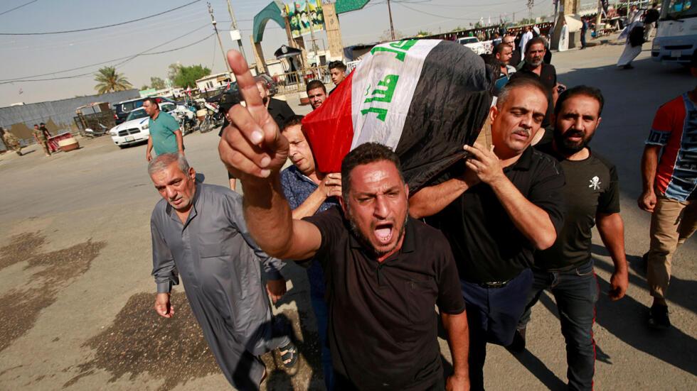 Víctima de la manifestaciones en Irak