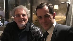 Nicolas Bay, en visite en Israël, s'affiche le 26 janvier 2017 aux côtés de David Ish-Shalom, membre du comité central du Likoud.