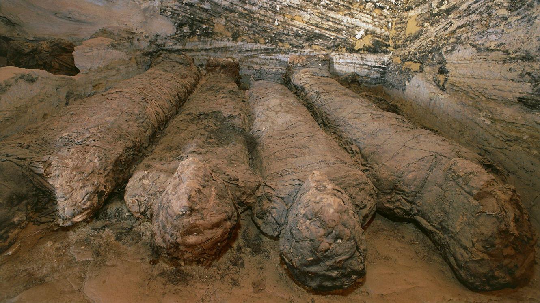 Site archéologique de la vallée des momies d'or, en Égypte.