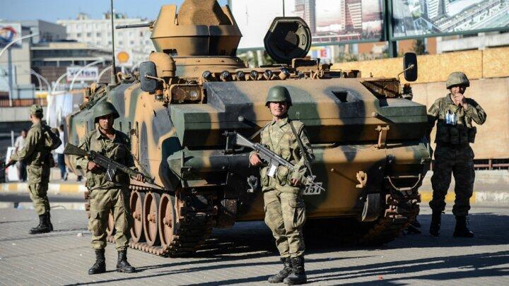 Des soldats de l'armée turque.