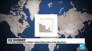 2020-10-01 17:01 Cyprus demands Turkey sanctions, stalls on Belarus