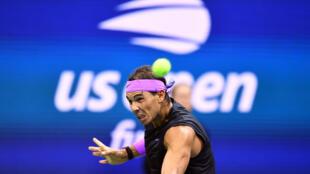 L'Espagnol Rafael Nadal contre le Russe Daniil Medvedev en finale de l'US Open, le 8 septembre 2019 à New York